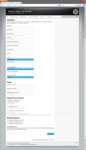 Ein einfaches, selbsterklärendes Anmeldeformular für die Besucher